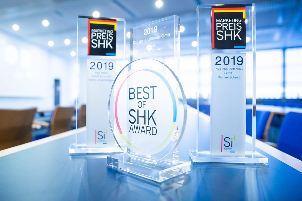 Marketingpreis und Best of SHK Awards 2019