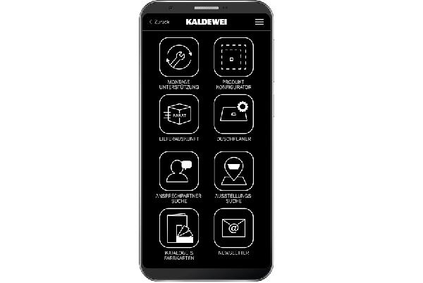 Kaldewei-App unterstützt Fachpartner