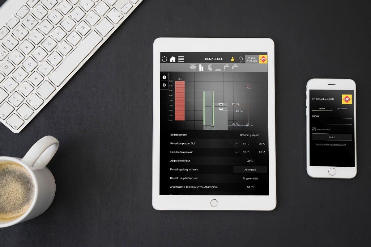 Per App auf HDG-Heizungen zugreifen