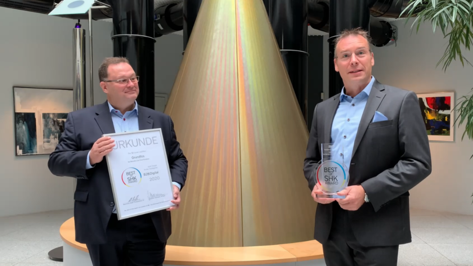 Video: Best of Award 2020: Preisverleihung an die Grundfos GmbH