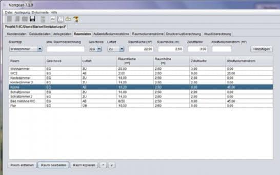 Westaflex: Software zur Lüftungsberechnung