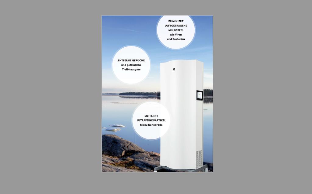 patentierte Luftreinigungstechnologie