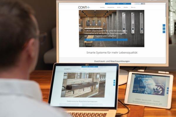 Conti+ Sanitärarmaturen mit neuem Internetauftritt