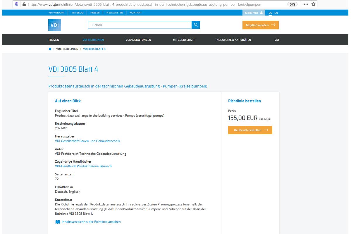 VDI 3805: Produktdatenaustausch in der TGA