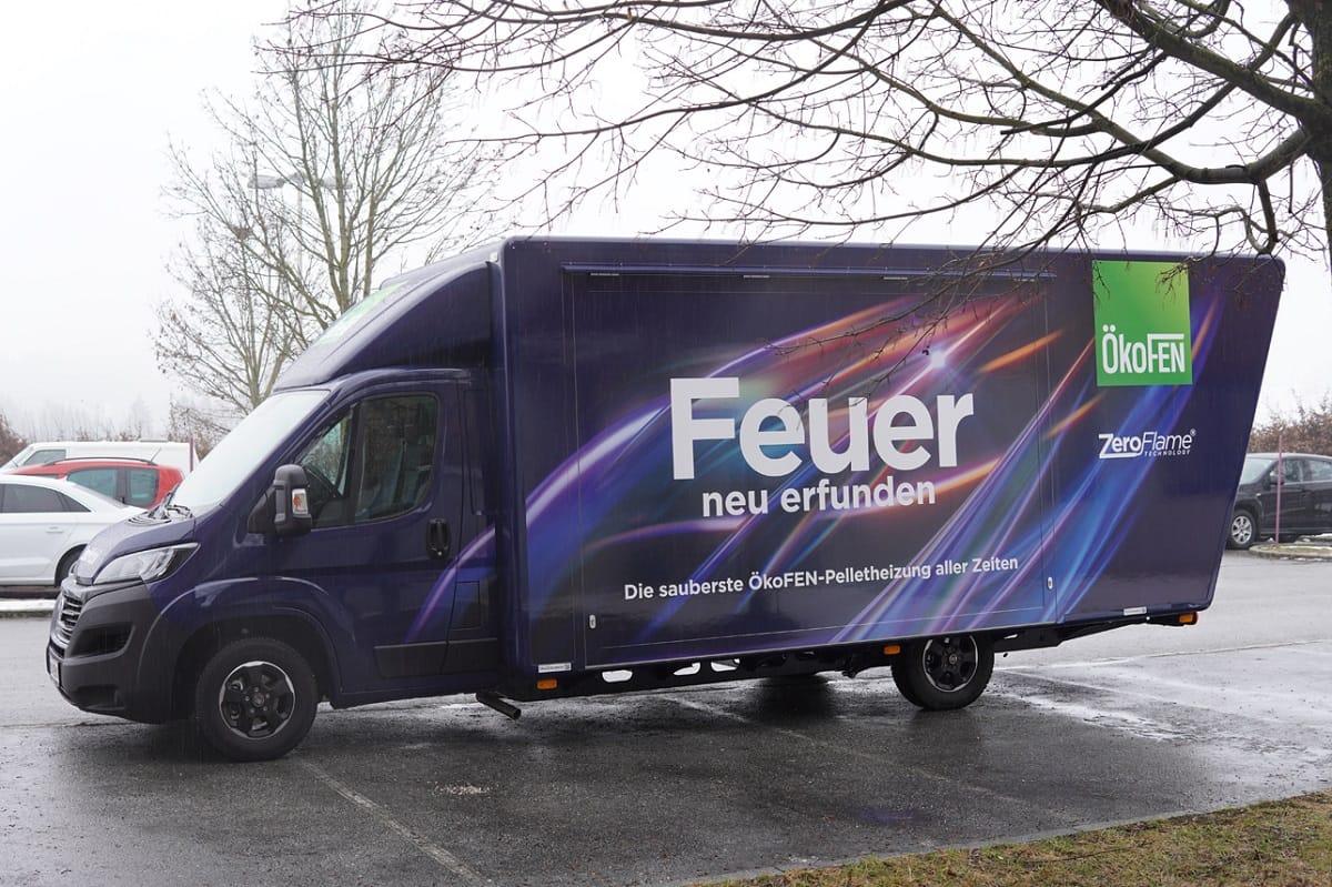 Roadshow zur neuen Pellet-Verfeuerungstechnologie