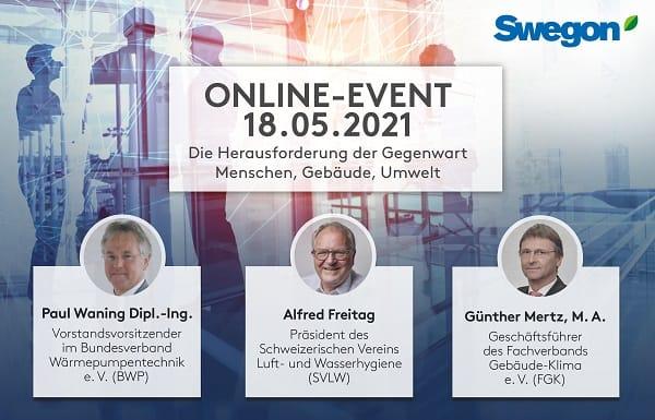 Swegon lädt ein zum interaktiven Online-Event