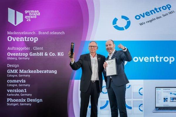 """Oventrop gewinnt in der Kategorie """"Brand Revival of the Year"""""""