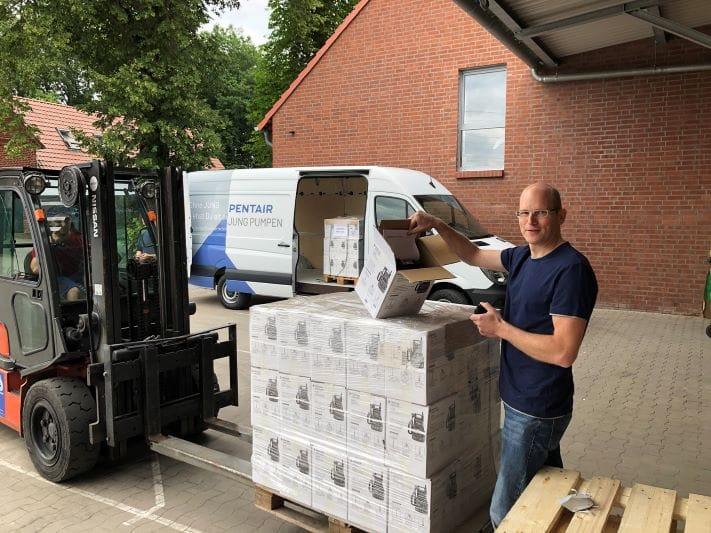 Jung Pumpen: Pumpenspenden in betroffene Hochwassergebiete