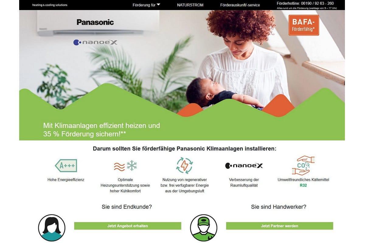 Panasonic: Förderservice für private und gewerbliche Klimasysteme