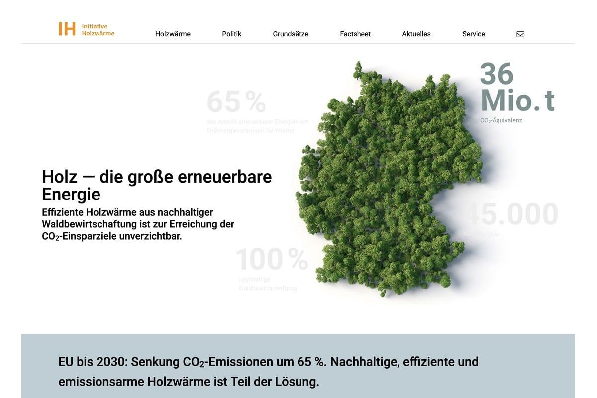 Initiative Holzwärme präsentiert Web-Präsenz