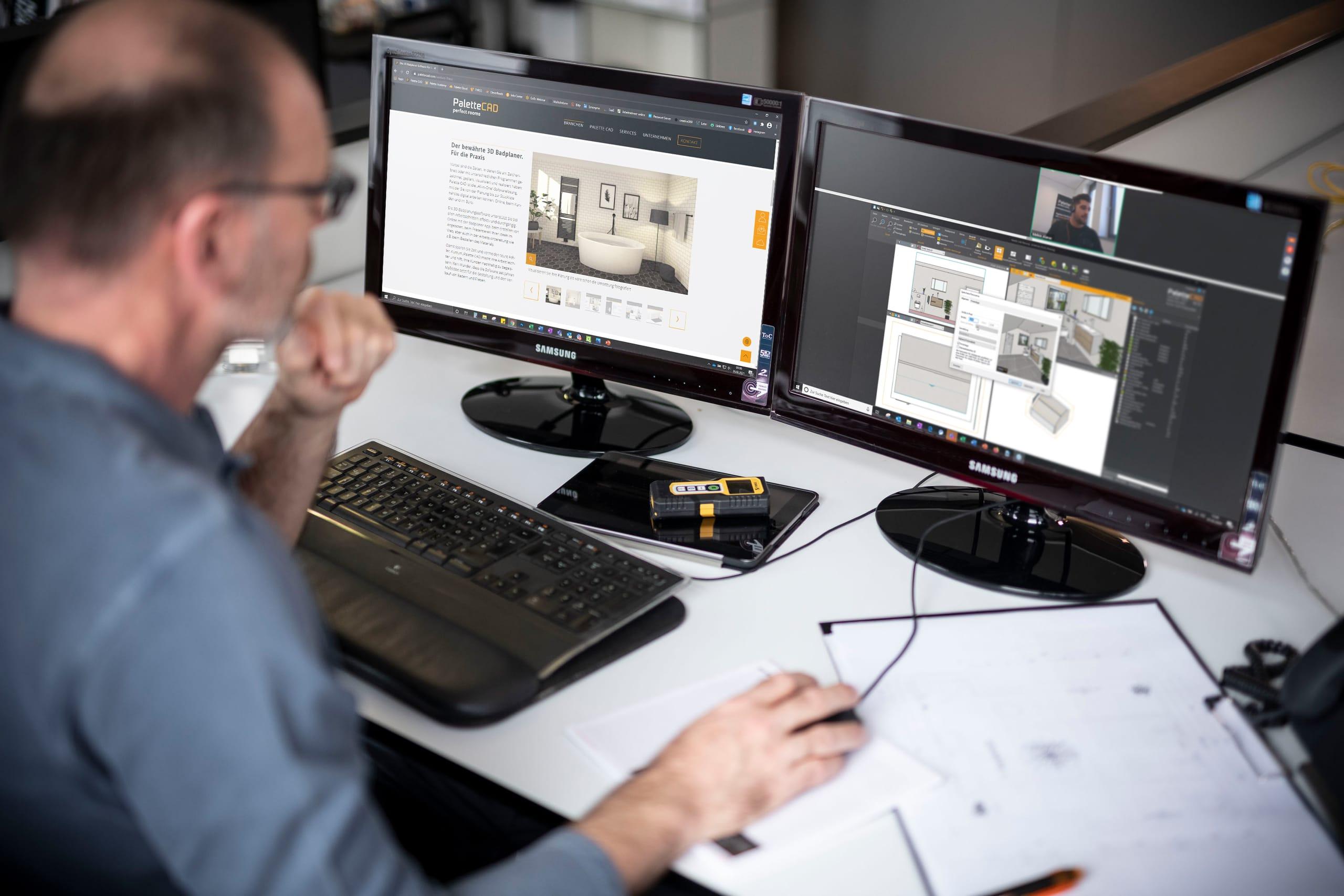 Palette CAD Terminankündigung: Sanitär-Webinar mit Expertentalk