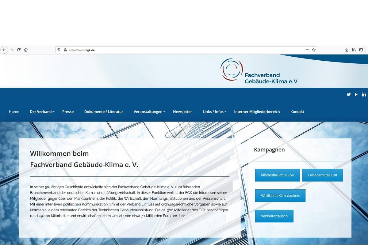 FGK unterstützt VDI-Expertenempfehlung zu Luftreinigern